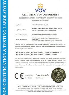 防水电源CE证书1